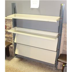 METAL FOLD DOWN 4 SHELF SHOE RACK