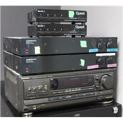 TECHNICS STEREO RECEIVER, CHANNEL SELECTORS AND