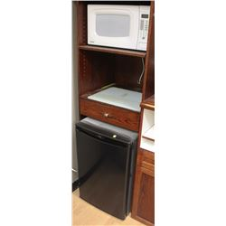 DANBY MINI BAR FRIDGE WITH DANBY MICROWAVE