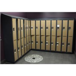 LOT OF 14 DOUBLE LOCKERS - 28 LOCKERS TOTAL