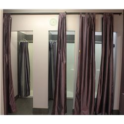 LOT OF ROOM AND SHOWERS CURTAINS WITH ADJUSTABLE