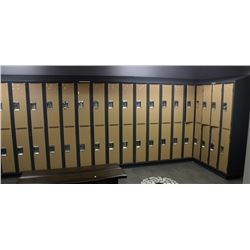 LOT OF 26 DOUBLE LOCKERS - 52 LOCKERS TOTAL