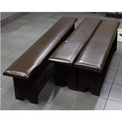LOT OF 4 LEATHERETTE BENCHES