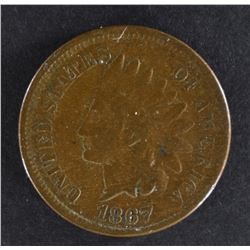 1867 INDIAN HEAD CENT, FINE