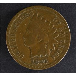 1870 INDIAN HEAD CENT, CH VG
