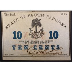 TEN CENTS STATE OF SOUTH CAROLINA, HIGHER GRADE