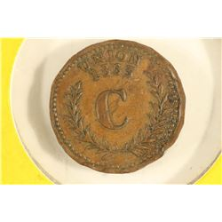 1863 CIVIL WAR TOKEN UNION / #11 ORANGE STREET