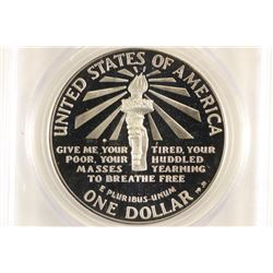 1986-S STATUE OF LIBERTY COMMEMORATIVE SILVER $