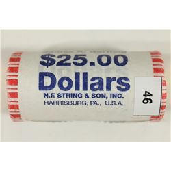 $25 ROLL OF JAMES A. GARFIELD PRESIDENTIAL DOLLARS