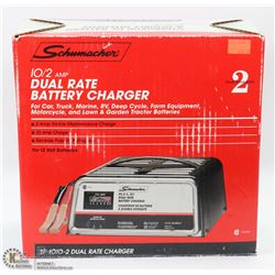 SCHUMACHER SF-2, 10/2 AMP DUAL RATE MANUAL BATTERY