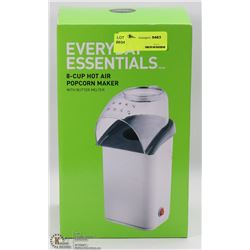 EVERYDAY ESSENTIALS 8-CUP HOT AIR POPCORN MAKER