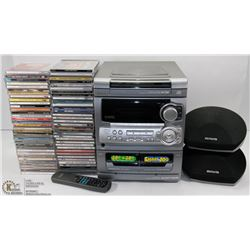 ESTATE BOX OF CD'S WITH CDPLAYER