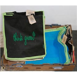 FLAT OF ENVIRO SHOPPING BAGS