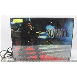 BACKLIT SCARFACE WALL HANGING, WORKS