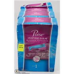 4 BOXES OF POISE IMPRESSA BLADDER SUPPORTS