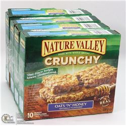 LOT OF 4 NATURE VALLEY OATS & HONEY GRANOLA BARS.