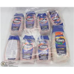 8 ASSORTED TUBS OF TUMS ANTACID