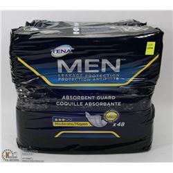 2 PACKS OF TENA MENS LEAKAGE PROTECTION ABSORBENT