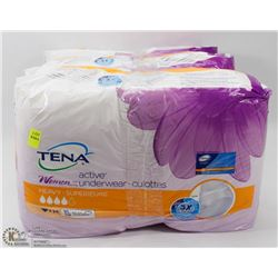 3 PACKS OF TENA WOMENS ACTIVE UNDERWEAR