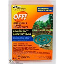 NEW PACK OF 8 OFF! MOSQUITO COILS W/2 METAL STANDS