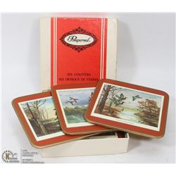 LOT OF 6 TRADITIONAL COASTERS BY PIMPERNEL