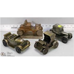 COLLECTION OF 4 ASSORTED METAL DECORATIVE CARS