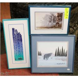 LOT OF 3  PRINTS  BY ASSORTED ARTISTS