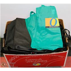 #50) BOX OF OVER 40 NEW REUSABLE SHOPPING BAGS