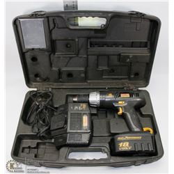18V HEAVY DUTY RECHARGEABLE DRILL WITH 1 BATTERY &