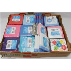 BOX OF NEW ASSORTED COLOR TABLE NAPKINS