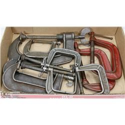 BOX OF C-CLAMPS.