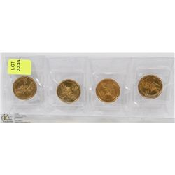 LOT OF 4 SEALED 2010 SPECIAL EDITION LOONIES