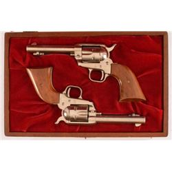 Cased Set of Colt SA Frontier Scout .22 Revolvers