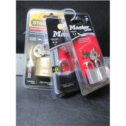 New Bundle of 5 Locks / Master Locks & Stanley