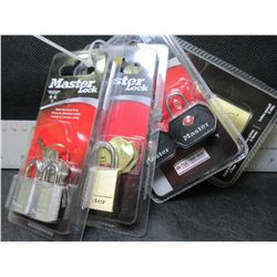 New lot of 6 Locks / Master Locks/1 Stanley / 2 are certified Luggage locks