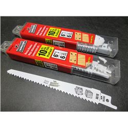 2 New packs of 10 each Vermont American Recip/Sawzall Blades
