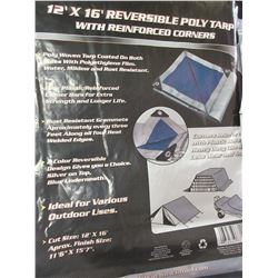 New 12ft x 16ft Reversable Tarp / silver or blue