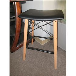 New Saddle style Wood and metal bar Stool