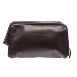 Strenesse Gabriele Strehle Brown Leather Makeup Case