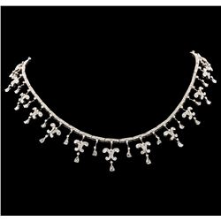 7.45 ctw Diamond Necklace - 18KT White Gold