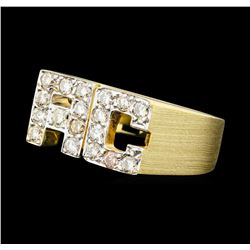 "0.50 ctw Diamond ""AC"" Initial Ring - 14KT Yellow Gold"