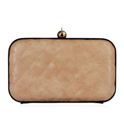 Natural Tufted Evening Clutch