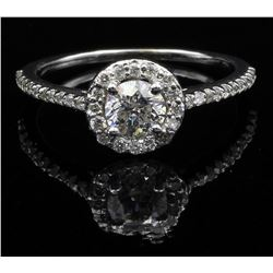 0.63 ctw Diamond Wedding Ring - 14KT White Gold