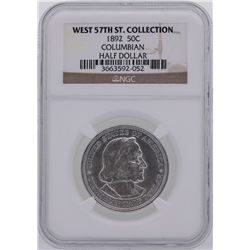 1893 Columbian Centennial Commemorative Half Dollar Coin NGC Graded