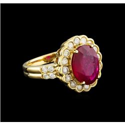 14KT Yellow Gold 3.44 ctw Ruby and Diamond Ring