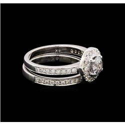 1.30 ctw Diamond Ring - 18KT White Gold
