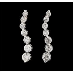 1.50 ctw Diamond Earrings - 14KT White Gold