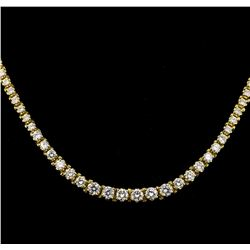 7.52 ctw Diamond Necklace - 14KT Yellow Gold