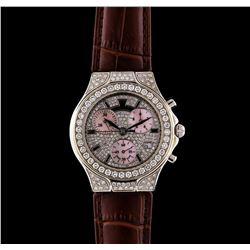 Techno Marine 18KT White Gold and Stainless Steel 2.63 ctw Diamond Watch