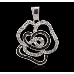 14KT White Gold 0.23 ctw Diamond Pendant
